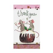 Alex Clark Mice Pack of 5 Christmas Thank You Cards